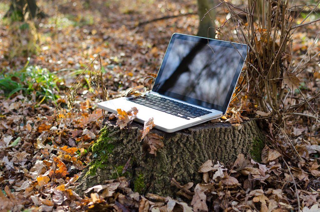 portable, ordinateur, carnet